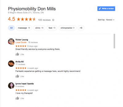 Physiomobility Reviews